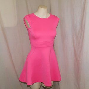 Baker by Ted Baker Hot Pink Mini Skater Dress